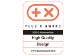 PLUS X AWARD HIGH QUALITY DESIGN
